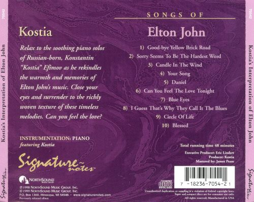 Kostia's Interpretations of Elton John