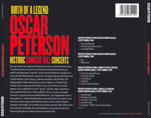 Historic Carnegie Hall Concerts: Birth of a Legend