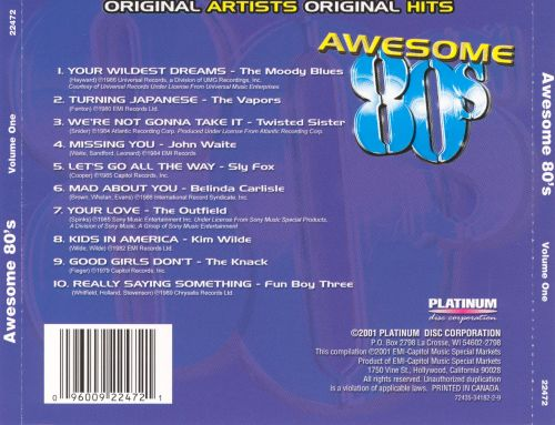 Awesome '80s, Vol. 1