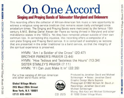 On One Accord: Singing and Praying Bands Of...