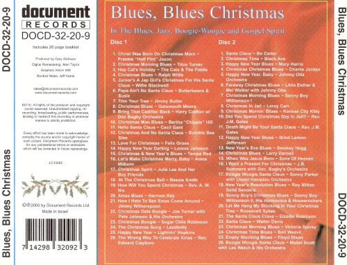 Blues, Blues Christmas: 1925-1955