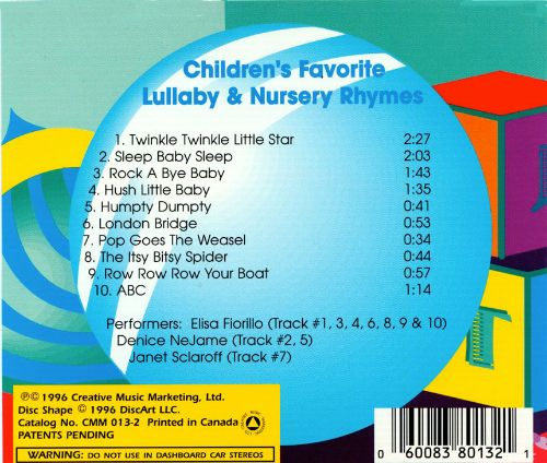 Childrens Favorite Lullaby & Nursery