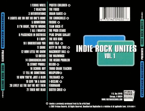 Indie Rock Unites, Vol. 1