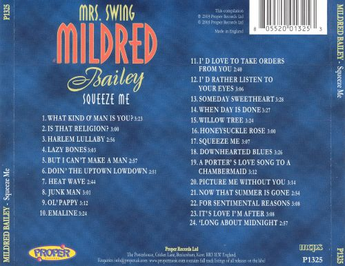 Mrs. Swing: Squeeze Me