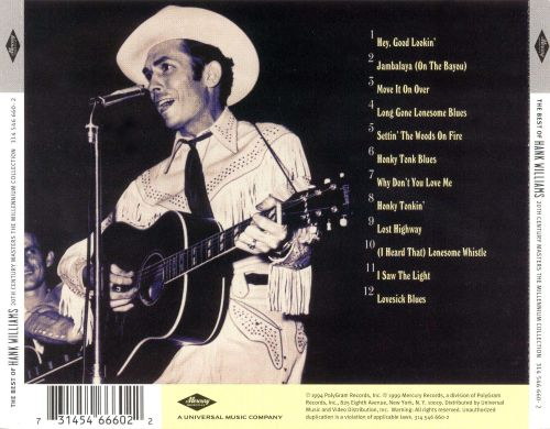 20th Century Masters-The Millennium Collection: Best of Hank Williams