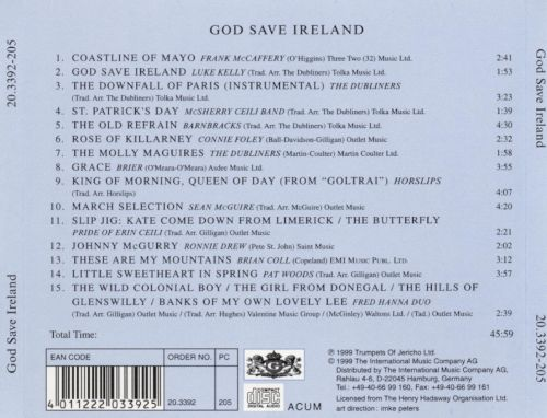 Have a Drink..., Vol.1: God Save Ireland