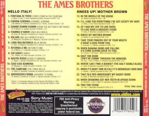 Hello Italy/Knees Up, Mother Brown