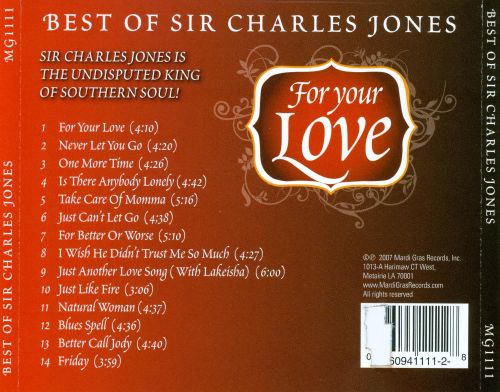 For Your Love: Best of Sir Charles Jones