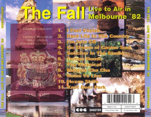 Live to Air in Melbourne '82