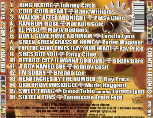 Party Tyme Karaoke: Country Legends, Vol. 2