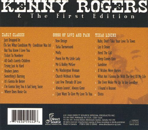 Kenny Rogers & the First Edition [Direct Source 3 CD ...