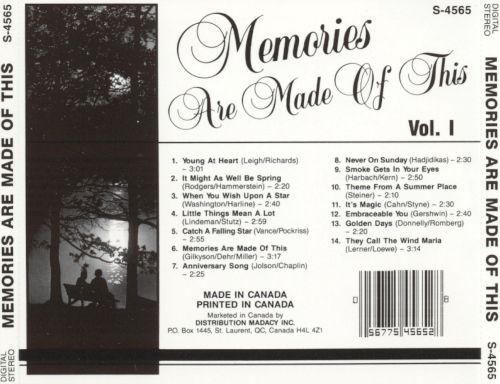 Memories Are Made of This, Vol. 1 [Madacy]
