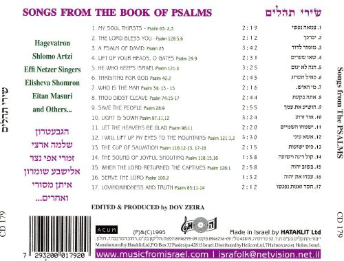 Songs from the Book of Psalms