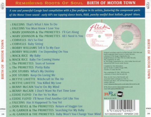 Remembering Roots of Soul, Vol. 2: Birth of Motor Town