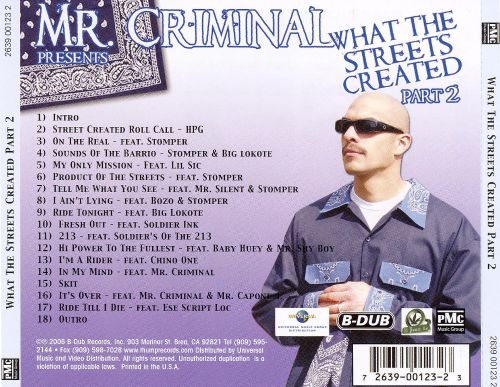 mr criminal what the streets created album