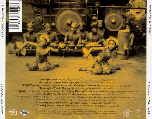 Music of Indonesia: Music for the Gods