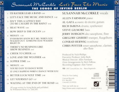 Let's Face the Music: The Songs of Irving Berlin