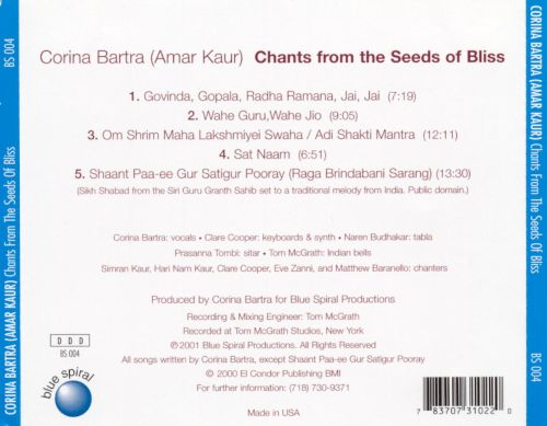 Chants from the Seeds of Bliss