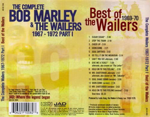The Complete Wailers 1967-1972, Part 1: Best of the Wailers