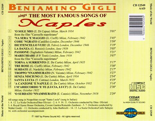 The  Most Famous Songs of Naples