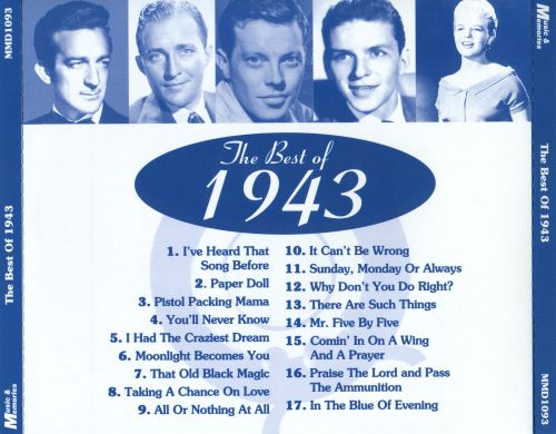 The Golden Age of Popular Song: 1943
