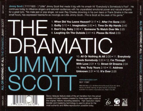 All or Nothing at All: The Dramatic Jimmy Scott