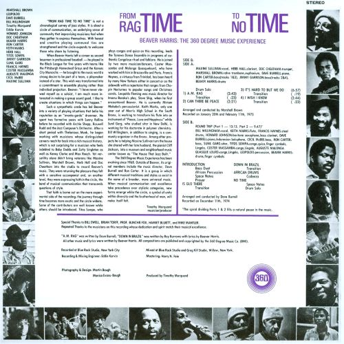 From Ragtime to No Time