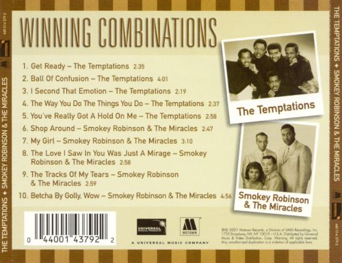 Winning Combinations: The Temptations & Smokey Robinson and the Miracles