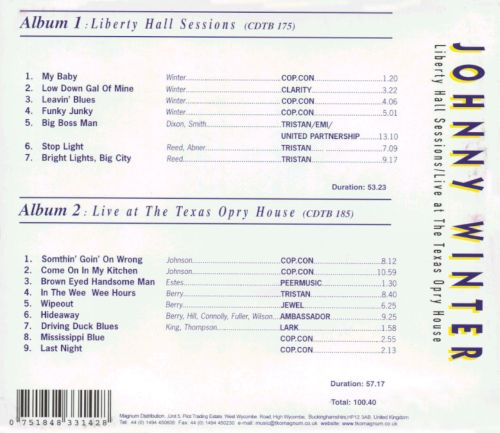 Liberty Hall Sessions/Live at the Texas Opry House