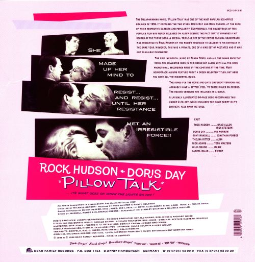 Pillow Talk Original Soundtrack Doris Day Rock Hudson Songs