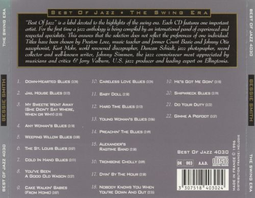An Introduction to Bessie Smith: Her Best Recordings 1923-1933