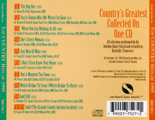 Jukebox Dance Hits: Country Hits of 1995