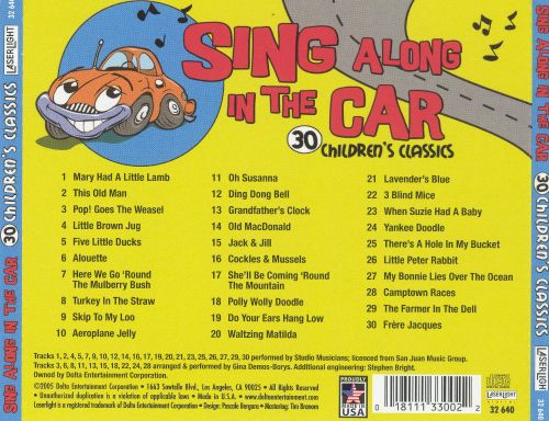 Sing Along in the Car: 30 Children's Classics