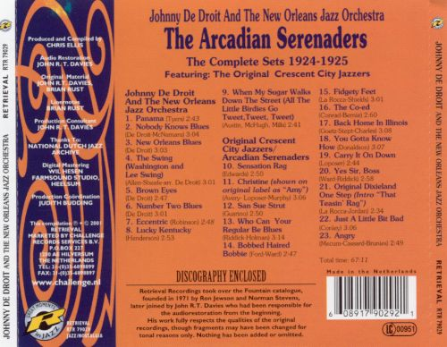 The Arcadian Serenaders: The Complete Sets 1924-1925