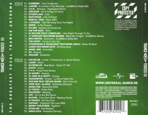 Trance Voices, Vol. 3 [Germany]