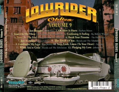 Lowrider Oldies Vol 9 Various Artists Songs Reviews