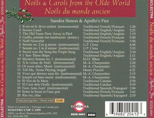 Sweet Was the Virgin's Song: Noels & Carols from the Olde World