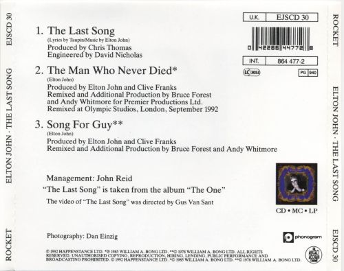 Last Song, Vol. 1 of a Two Part Set