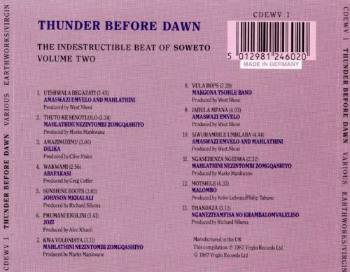 Thunder Before Dawn: The Indestructible Beat of Soweto, Vol. 2