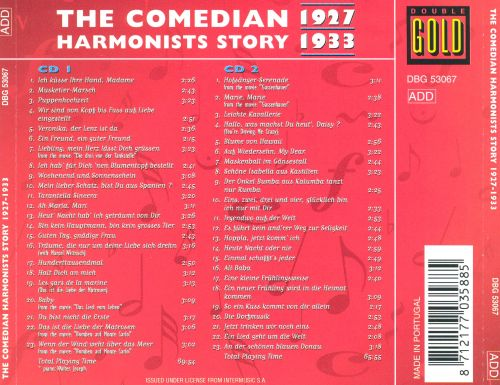 The Comedian Harmonists Story 1927-1933