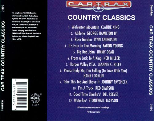Car Trax: Country Classics