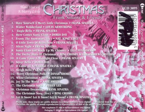 have yourself a merry little christmas k tel uk - Have Yourself A Merry Little Christmas Frank Sinatra