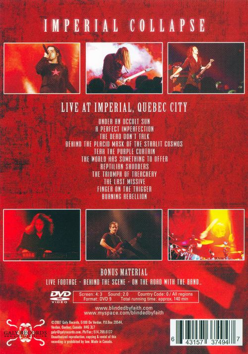 Imperial Collapse: Live in Quebec City [DVD]
