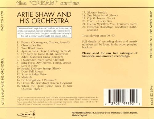 Artie Shaw & His Orchestra 1939-1940