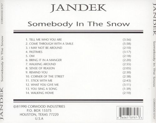 Somebody in the Snow