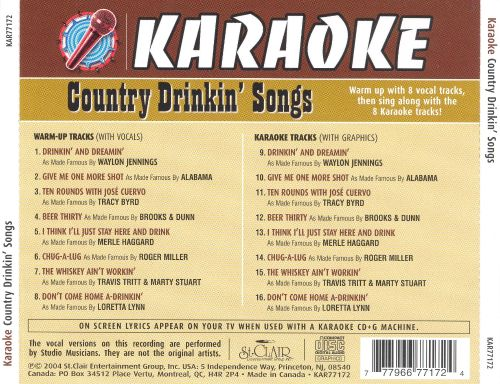 Country Drinkin' Songs
