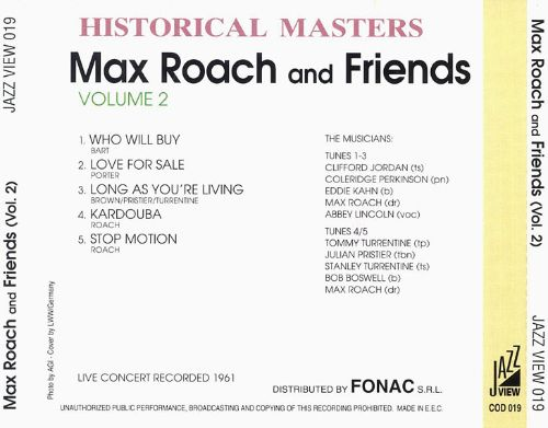 Max Roach and Friends, Vol. 2