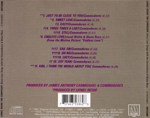 The Composer: Great Love Songs with the Commodores and Diana Ross