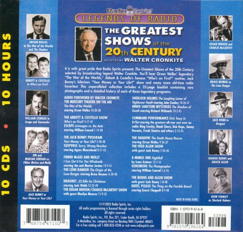 Greatest Shows of the 20th Century Selected by Walter Cronkite
