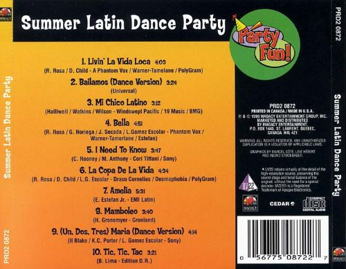 summer latin dance party countdown dance masters songs reviews